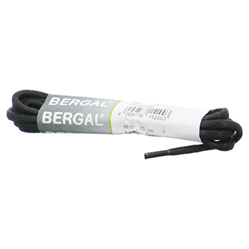 1 Paar Bergal Schnürsenkel schwarz - gewachst - rund - dick - Ø 3,0 mm (150 cm)