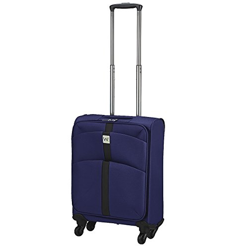 Wagner Luggage Flight Suitcase with 4 Wheels 54 Cm, BLUE (Blue) - 85191203-08
