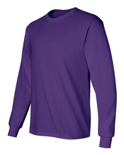 Gildan Adult L/S T-Shirt in Purple - XXX-Large