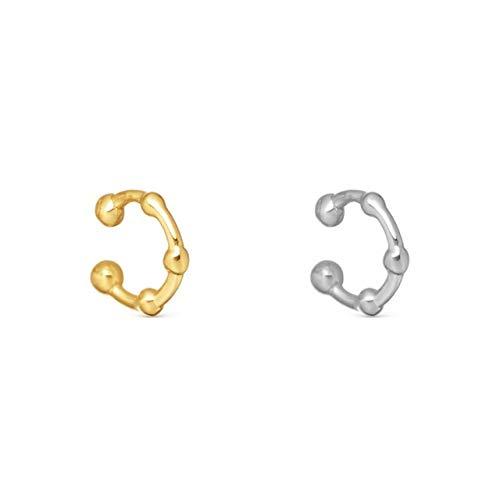 HUAI Crystal Ear Cuff Earring for Women Multicolor C-Shape No Pierced Small Earring Bridal Wedding Ear Clip Gifts (Metal Color : 206297)
