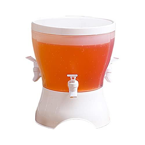 MEIBAOGE Hervidor frío con Grifo en refrigerador Dispensador de Bebidas para refrigerador con 3 Hervidores 3 Grifos Tetera para Frutas Recipiente para Bebidas, Hervidores fríos