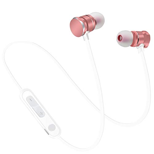 N / A Earphone Headset Magnetic Absorption Sports Bluetooth 5.0 in-Ear Headset with HD Mic,Support Hands-Free Calls, for IPad, Laptop, iPhone, Samsung, HTC, Huawei,and Other Smart Phones