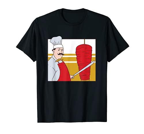 Kebab Chef  Kebab Chef  Disfraz de kebab para amantes del kebab Camiseta