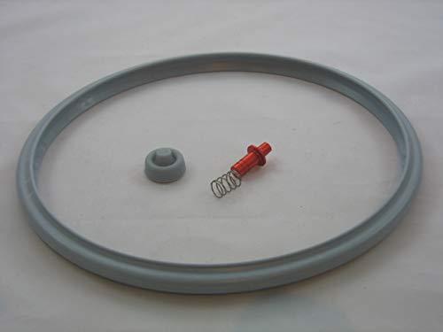 Reparaturset für Schnellkochtopf Tischfein Rapid Dichtungsring 20cm + Druckanzeiger Ventil Kochsignal