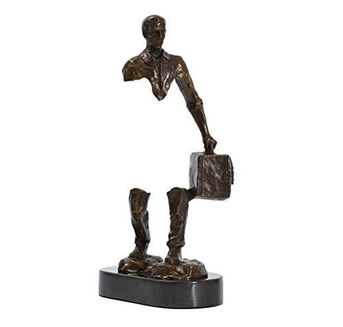 WUHUAROU Viajero Bronce Estatua Escultura Abstracto Famoso Moderno Viajes Hombre Masculino latón Estatua colección Antiguo Artista decoración del hogar