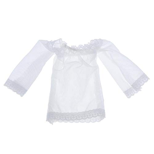 lahomia Pijama de Encaje Femenino a Escala 1/6 para Accesorios de Ropa TTL de Juguetes Calientes de 12 Pulgadas - Blanco