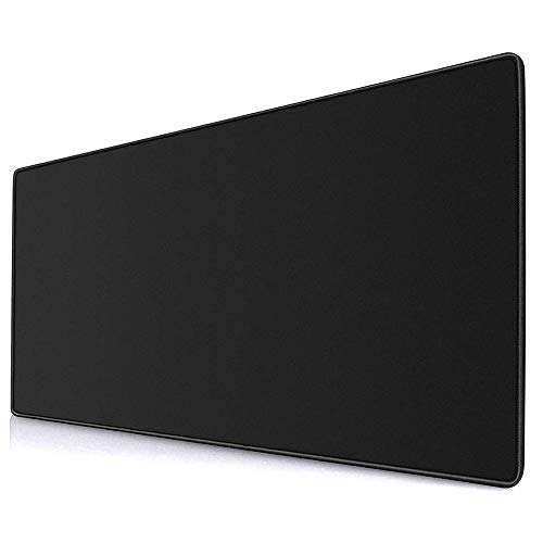 YEBMoo Gaming Mouse Pad XL Extended Desk Pad & Thick Large (800x300x3 mm) Computer Keyboard Mousepad Mouse Mat (80x30Black)