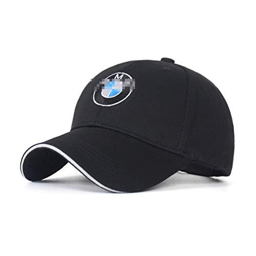 ANAISI Auto Sport Car Logo Adjustable Baseball Cap,Unisex Hat Travel Cap Car Racing Motor Hat for Man Black Fit(B-M- W-)