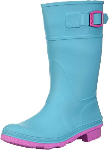 Kamik Girls' Raindrops Rain Boot, Teal, 3 M US Little Kid