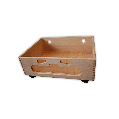 Ehring Markenmöbel Holzkiste Smile Aufbewahrungskasten Holz Kiste Rollkasten Kinderzimmer Holzkasten Box