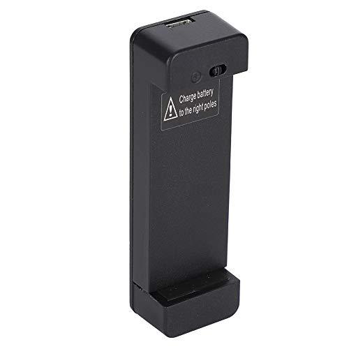 Cargador de batería Universal, Cargador de batería Externo Universal para teléfono Inteligente Samsung S3 S4, con indicador LED de Encendido, Material de PC, ignífugo e inastillable, Negro