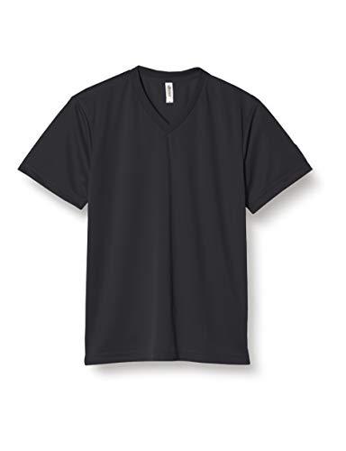 [グリマー] 半袖 4.4オンス ドライ Vネック Tシャツ 00337-AVT ブラック 5L (日本サイズ5L相当)