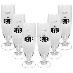 Jever Pilstulpe Pils Tulpe Bierglas Glas Gläser Set - 6X Pilsgläser 0,25l geeicht