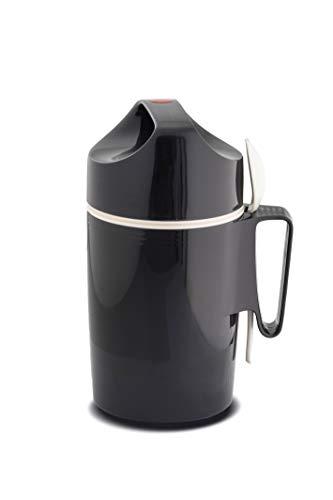 ROTPUNKT Isolier-Speisegefäss 850-0,85 l Warme Speisen einfach zum transportieren/Löffeleinsatz/Schraubverschluss/stoß- und bruchsicher/Outdoor (Slate Grey)