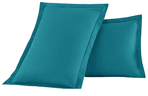 Luxury Ultra-Soft Premium Hotel Quality 2-Piece Pillow Shams Microfiber Double Brushed-100% Hypoallergenic-Wrinkle Resistant, King Size, Turquoise