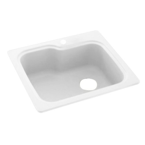 Swanstone KS02522SB.010 Solid Surface 1-Hole Dual Mount...