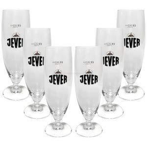 Jever Bierglas Bierpokal Glas Gläser-Set - 6x Pilstulpen 0,2l geeicht