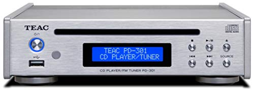 Teac PD-301DAB-X - Lettore CD con sintonizzatore DAB/FM, colore: Nero argento