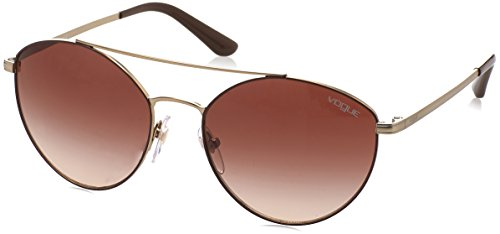 Vogue 0Vo4023S Gafas de sol, Matte Brown/Pale Gold, 56 para Mujer