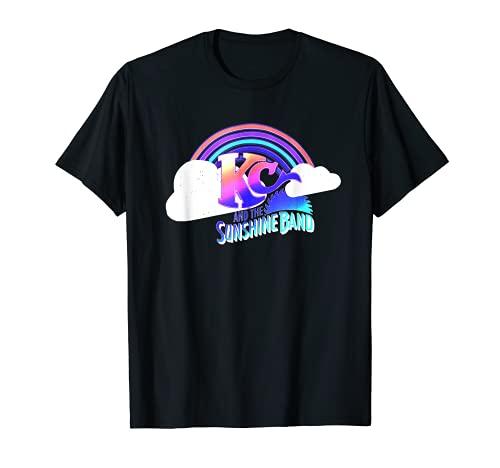 KC & The Sunshine Band Rainbow Cloud Logo Maglietta