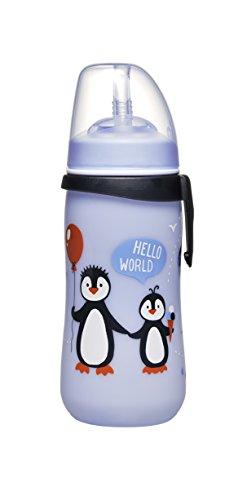 Nip 35067 Sugrörflaska Halmkopp, 12 Månader, 330 ml, Pingvin