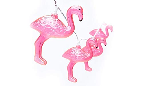SUNSGNE Outdoor Party Lights, Summer Patio String Lights, Holiday String Lights, Pink Flamingo Gift – Fun Lights for Bedroom Home or Birthday String Lights