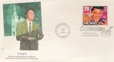 Gospel Elvis Presley First Day Cover Cachet; 1993 Celebration 29c FDC #2724
