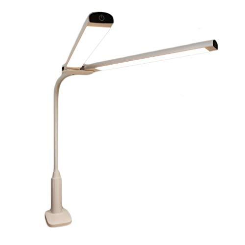 Schreibtischlampen Tischleuchten Clip-Art LED-Schreibtischlampe Augenschutz Dual-Lichtquelle Drei-Gang-Licht Dual Control-Schalter Plug-in Studenten Schlafzimmer Schlaf Tisch-&Nachttischlampen