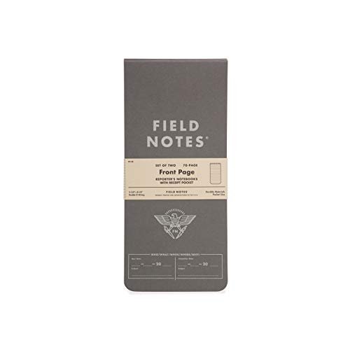 Field Notes - Front Page 2-Pack of Reporter's Notebooks - 3.75' x 8'
