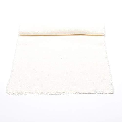 LinenMe Chemin de Table, Collection Rustic, 45x229cm, Blanc cassé