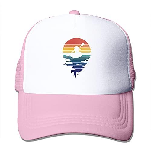Gorra de malla para hombre y mujer, estilo vintage, retro, para kayak, personalizable, de malla, ajustable, color negro, Rosa/Rebel Fun., Talla única