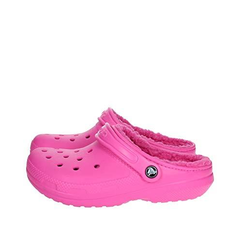 Crocs Classic Lined Clog, Zuecos Unisex Adulto, Rosa (Electric Rosa/Electric Rosa), 36/37 EU