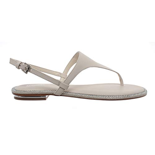 Michael Kors Damen Sandalen Schuhe Flip Flops Enid Thong Leather Lt Cream Neu