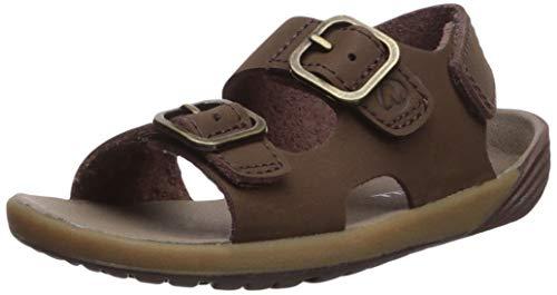 Merrell Boys' Bare Steps Sandal, Brown, 8 Medium US Toddler