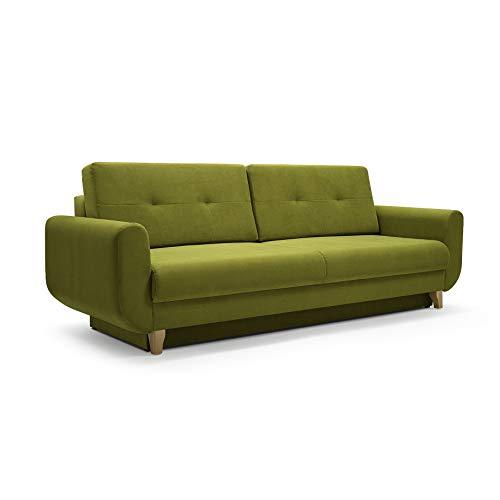 Canapé convertible 3 places Tissu Design Confort