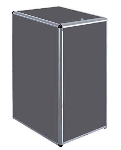 KIRCHBERGER METALL Aluminium Mülltonnenbox Rollobox, 120 Liter, 1er Box (Steinwand)