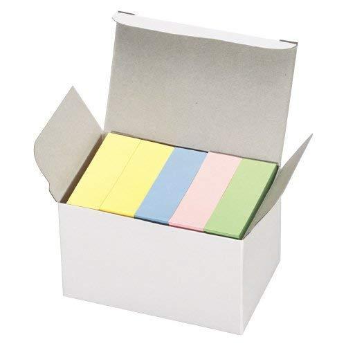 再生紙ふせん<K2> 50mmX15mm 4色混色 5本入り 品番:K2メ-R5015 注文番号:63896565 メーカー:コクヨ