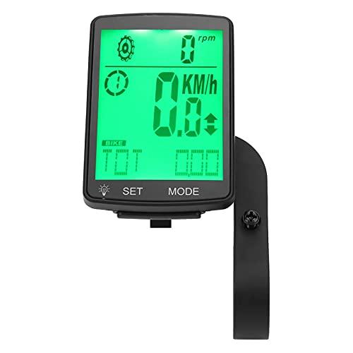 Computadora de Bicicleta Multifuncional Odómetro de Ciclismo Soporte de Sensor Inteligente Pantalla de retroiluminación LCD para Hombres al Aire Libre Mujeres Adolescentes Ciclistas para cic