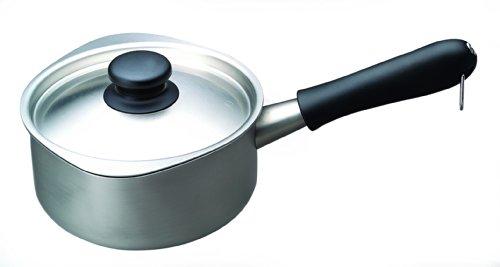柳宗理日本製片手鍋16cmガス火専用ステンレスミルクパンつや消しふた付き