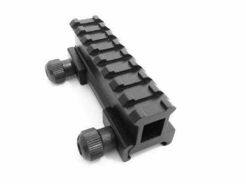 "Ade Advanced Optics Tactical 1"" Compact Weaver-Picatinny High Profile See Through Riser Rail Riflescope Sight"