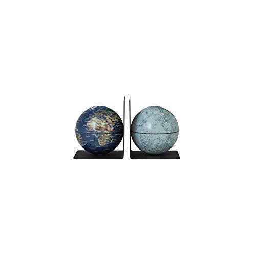 emform Bookglobe Buchstützen-Set Globus Weltkugel abnehmbar in versch. Varianten Earth Moon