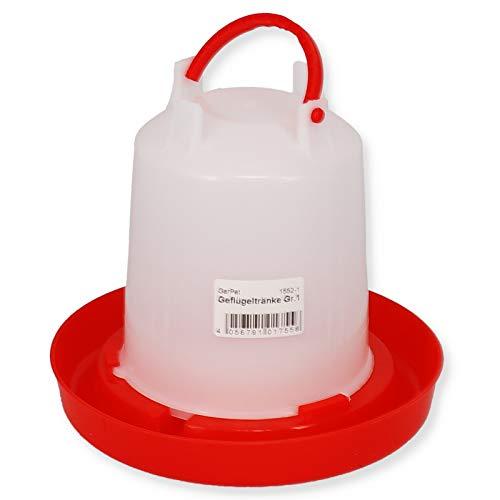 Geflügeltränke automatisch Hühnertränke Stülptränke Hühner Tränke zum Aufhängen oder Hinstellen (Gr.1)