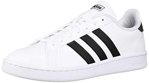 adidas Women's Grand Court Tennis Shoe, White/Black/White, 9.5 M US