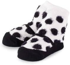 Mud Pie Baby-girls Newborn Fuzzy Dot Socks