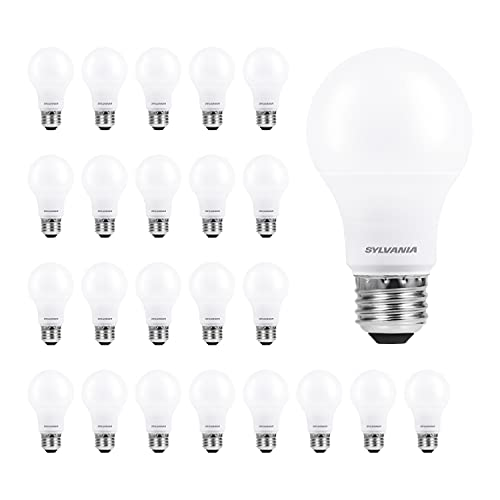 SYLVANIA ECO LED A19 Light Bulb, 60W Equivalent Efficient 9W, 7 Year, 750 Lumens, Medium Base, Frosted, 2700K, Soft White - 24 pack (40986)
