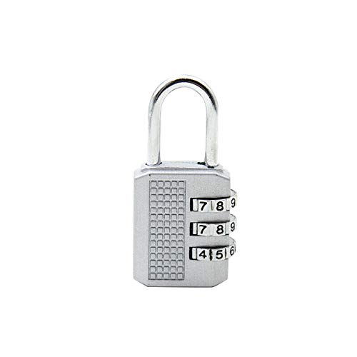Metal Combination Padlock Luggage Lock Luggage Lock-Silver