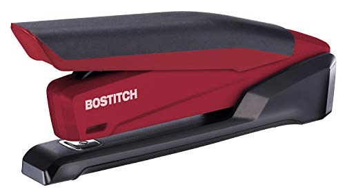 Bostitch InPower Spring-Powered Desktop Stapler, Red (1124)