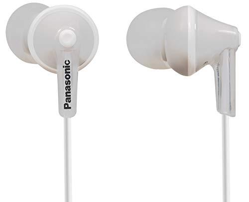 Panasonic RP-HJE125E-W n-Ohr-Kopfhörer (Drei Paar Pass-Stücke, 10-24.000 Hz, 1,1 m Kabel) weiß