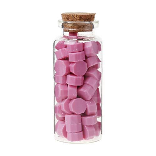 65unidades lacre Octagon perlas para Retro sello de Multicolor boda sobre tarjeta de invitación DIY Decoración rosa