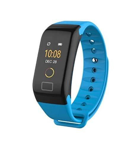 LYB para OPPO ACE2 A92S A72 A91 A52 Smart Watch Pulsera Impermeable Tasa del Corazón Deporte Pulseras para Vivo Y30 Y50 V19 IQOO NEO3 NEX 3S (Color : Blue)